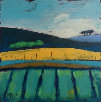"""AUTUMN FIELDS"" 20cm x 20cm £175"