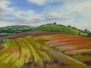 """AUTUMN VIEW"" £550 Pastel on paper, framed behind glass."