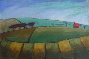 """""""HILL FARM"""" 20cm x 30cm £195"""