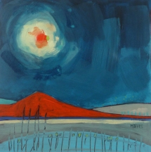 RED MOON (20 x 20cm)