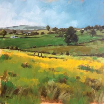 SUMMER FIELDS - BALDERNOCK (40 x 40cm)
