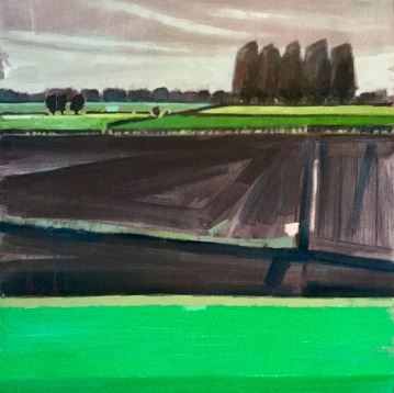 PLOUGHED FIELD (38 x 38cm)
